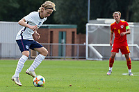 3rd September 2021; Newport, Wales:  Sammy Braybrook of England controls the ball during the U18 International Friendly match between Wales and England at Newport Stadium in Newport, Wales.