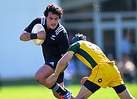 Meihana Grindlay in action during the rugby union match between New Zealand Schools and Australia Under-18s at St Paul's Collegiate in Hamilton, New Zealand on Friday, 4 October 2019. Photo: Dave Lintott / lintottphoto.co.nz