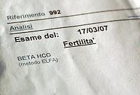 Analisi per il controllo della fertilità..Analysis for the control of fertility....