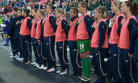 USA women's national team bench. The US Women's National Team defeated the Canadian Women's National Team, 4-0, at BMO Field in Toronto during an international friendly soccer match on May 25, 2009.