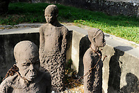 TANZANIA Zanzibar, Stone town is part of UNESCO heritage, slave trade memorial at anglican church / TANSANIA Insel Sansibar, Stonetown, die Altstadt ist Teil des Unesco Welterbe Programm, Denkmal fuer den Sklavenhandel an der anglikanische Kirche