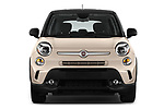Car photography straight front view of a 2016 Fiat 500L Trekking 5 Door Mini MPV Front View