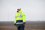Miklos Szilagyi, construction site manager for the largest wind farm in Europe, the 600mw Fantanele-Cogealac in Romania