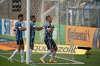 18th November 2020; Arena de Gremio, Porto Alegre, Brazil; Brazil Cup, Gremio versus Cuiaba; Diego Souza of Gremio celebrates his goal scored in the 10th minute 1-0