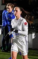 20.02.2020 OUD-HEVERLEE: OHL's Jill Janssens walk into the pitch before the Belgian's Women's Super League match between Oud-Heverlee Leuven vs KRC Gent Ladies on Friday 20th February 2020, Stadion Oud-Heverlee, Oud-Heverlee, BELGIUM. PHOTO: SEVIL OKTEM