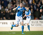 St Johnstone v Hearts…05.04.17     SPFL    McDiarmid Park<br />Paul Paton reacts as his shot is saved<br />Picture by Graeme Hart.<br />Copyright Perthshire Picture Agency<br />Tel: 01738 623350  Mobile: 07990 594431