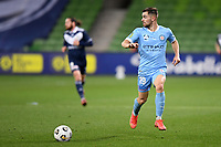 6th June 2021; AAMI Park, Melbourne, Victoria, Australia; A League Football, Melbourne Victory versus Melbourne City; Ben Garuccio of Melbourne City moves the ball forward