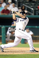 Anthony Rizzo #21 of the Tucson Padres hits a tape measure homerun approximately 450 feet in a Pacific Coast League game against the Fresno Grizzlies at Kino Stadium on April 20, 2011  in Tucson, Arizona. .Photo by:  Bill Mitchell/Four Seam Images.