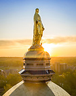 June 15, 2021; Mary statue on the Golden Dome (Photo by Matt Cashore/University of Notre Dame)