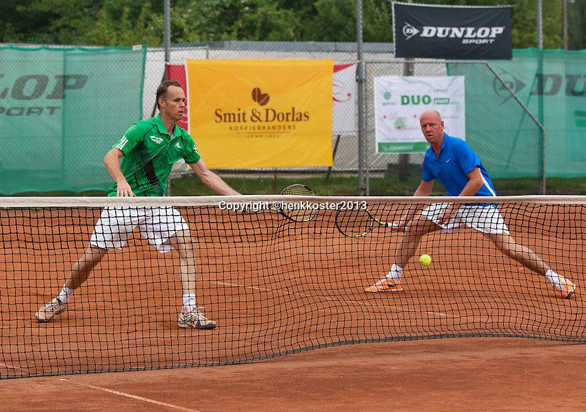 2013,August 24,Netherlands, Amstelveen,  TV de Kegel, Tennis, NVK 2013, National Veterans Tennis Championships,   Doubles<br /> Photo: Henk Koster