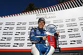 Winner Takuma Sato, Rahal Letterman Lanigan Racing Honda celebrates in Victory Lane, podium
