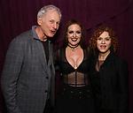 "Victor Garber, Jennifer Simard and Bernadette Peters backstage after ""Stigma"" on September 9, 2018 at the Green Room 42 in New York City."
