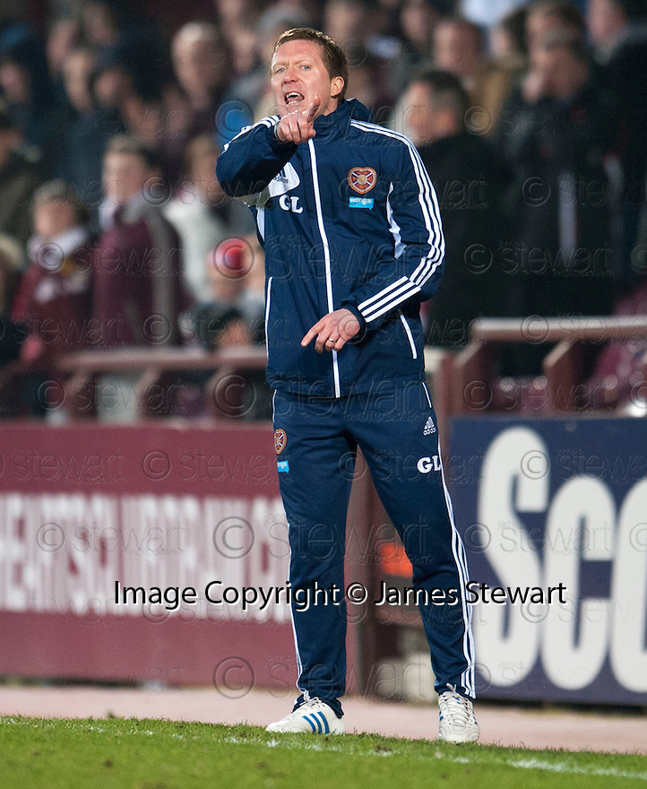 Hearts' caretaker manager Gary Locke.