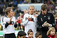 Lewis Holtby, Alexander Esswein und Kevin Trapp (alle D)<br /> Deutschland vs. Finnland, U19-Junioren<br /> *** Local Caption *** Foto ist honorarpflichtig! zzgl. gesetzl. MwSt. Auf Anfrage in hoeherer Qualitaet/Aufloesung. Belegexemplar an: Marc Schueler, Am Ziegelfalltor 4, 64625 Bensheim, Tel. +49 (0) 151 11 65 49 88, www.gameday-mediaservices.de. Email: marc.schueler@gameday-mediaservices.de, Bankverbindung: Volksbank Bergstrasse, Kto.: 151297, BLZ: 50960101