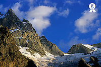 La Meije Glacier and Rateau Summit at sunset, Barre des Ecrins, Alps, France  (Licence this image exclusively with Getty: http://www.gettyimages.com/detail/82406705 )
