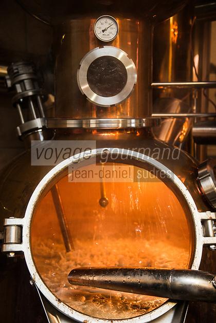 Europe/Allemagne/Bade-Würrtemberg/Forêt Noire/Bad Peterstal-Griesbach: Distillerie: Löcherhansenhof distillation du Schnaps
