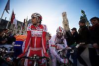 De Ronde van Vlaanderen 2012..Oscar Freire relaxed as ever