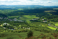 Aberfoyle, David Marshall Lodge and The Campsie Fells from Craigmore, Loch Lomond and The Trossachs National Park, Stirlingshire