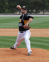 Starting pitcher Ryan Arrowood (21) of the Appalachian State Mountaineers in a game against the Wofford College Terriers on April 28, 2012, at Russell C. King Field in Spartanburg, South Carolina. (Tom Priddy/Four Seam Images)