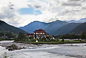 Punakha Dzong sits on confluence of the Pho Chhu and Mo Chhu rivers and was the capital of Bhutan and the seat of government until 1955, when the capital was moved to Thimphu. Punakha is the administrative centre of Punakha dzongkhag, one of the 20 districts of Bhutan. Photo: Sanjit Das/Panos