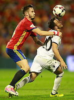 Spain's Saul Niguez (l) and Albania's Ergys Kace during FIFA World Cup 2018 Qualifying Round match. October 6,2017.(ALTERPHOTOS/Acero) /NortePhoto.com /NortePhoto.com