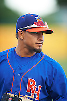 Midland RockHounds shortstop Franklin Barreto (10) before a game against the San Antonio Missions on April 21, 2016 at Nelson W. Wolff Municipal Stadium in San Antonio, Texas.  Midland defeated San Antonio 9-2.  (Mike Janes/Four Seam Images)
