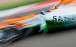 Sahara Force India F1 Team driver Nico Hulkenberg of Germany speeds his VJM05 car during the UBS Chinese F1 Grand Prix at Shanghai International circuit April 13, 2012. Photo by Victor Fraile
