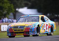9th July 2021;  Goodwood  House, Chichester, England; Goodwood Festival of Speed; Day Two; Ross Pannell drives the Dodge Avenger NASCAR in the Goodwood Hill Climb