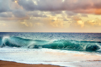 Waves and clouds. Kauai, Hawaii