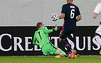ST. GALLEN, SWITZERLAND - MAY 30: Ethan Horvath #1 looking to make a save during a game between Switzerland and USMNT at Kybunpark on May 30, 2021 in St. Gallen, Switzerland.