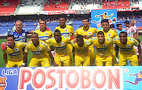 BARRANQUILLA -COLOMBIA- 18-08-2013. Formacion del Deportivo Pasto contra el Atletico Junior  ,  partido correspondiente a la cuarta fecha de La  Liga Postobonn segundo semestre disputado en el estadio  Metropolitano / Team  of Deportivo Pasto against Atletico Junior . , Game in the fourth round of Liga Postobonn second half played at Metropolitan Stadium . Photo: VizzorImage / Alfonso Cervantes  / Stringer