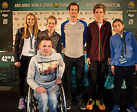 Februari 09, 2015, Netherlands, Rotterdam, Ahoy, ABN AMRO World Tennis Tournament, Andy Murray, Young Talents<br /> Photo: Tennisimages/Henk Koster
