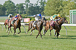 20 JUN 2010: Flamin' Hot, Alan Garcia up, wins the Anderson Fowler Stakes via DQ, after a stretch battle with Escrow Kid and Cooper Junior.