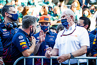 HORNER Christian (gbr), Team Principal of Red Bull Racing, VERSTAPPEN Max (ned), Red Bull Racing Honda RB16B, MARKO Helmut (aut), Drivers' Manager of Red Bull Racing, portrait during the Formula 1 Azerbaijan Grand Prix 2021 from June 04 to 06, 2021 on the Baku City Circuit, in Baku, Azerbaijan -<br /> FORMULA 1 : Grand Prix Azerbaijan <br /> 06/06/2021 <br /> Photo DPPI/Panoramic/Insidefoto <br /> ITALY ONLY