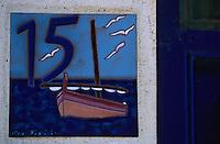 Europe/France/Languedoc-Roussillon/66/Pyrénées-Orientales/Collioure: détail plaque de maison