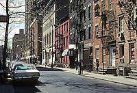 New York City: Christopher St. from Gay St., Greenwich Village. Photo '78.