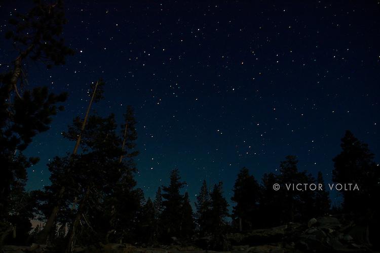 Night sky near Middle Velma Lake - Desolation Wilderness