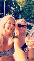 Pictured: Kay Longstaff (L)<br /> Re: A British woman has survived after falling from a cruise ship off the coast of Croatia.<br /> 46-year-old Kay Longstaff was rescued 10 hours after falling into the Adriatic Sea - 60 miles offshore - around midnight on Saturday.<br /> She was then taken to hospital in the town of Pula an ambulance.