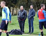 Jimmy Calderwood watches training