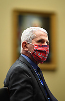 Dr. Anthony Fauci, Director of the National Institute for Allergy and Infectious Diseases, National Institutes of Health, wears his Washington Nationals mask as he testifies during a United States House Energy and Commerce Committee hearing on the Trump Administration's Response to the COVID-19 Pandemic, on Capitol Hill in Washington, DC on Tuesday, June 23, 2020. <br /> Credit: Kevin Dietsch / Pool via CNP/AdMedia