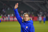 CARSON, CA - FEBRUARY 7: United States goalkeeper Ashlyn Harris #18 during a game between Mexico and USWNT at Dignity Health Sports Park on February 7, 2020 in Carson, California.