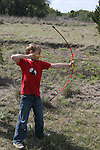 Archery and primitive camping on our land behind Pedernales Cellars