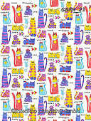Kate, GIFT WRAPS, GESCHENKPAPIER, PAPEL DE REGALO, paintings+++++Animal crackers cats,GBKM21,#gp#, EVERYDAY ,sticker,stickers