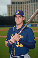 Montgomery Biscuits designated hitter Brendan McKay (38) poses for a photo before a Southern League game against the Biloxi Shuckers on May 8, 2019 at MGM Park in Biloxi, Mississippi.  Biloxi defeated Montgomery 4-2.  (Mike Janes/Four Seam Images)