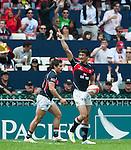 Tonga vs Hong Kong on Day 2 of the 2012 Cathay Pacific / HSBC Hong Kong Sevens at the Hong Kong Stadium in Hong Kong, China on 24th March 2012. Photo by Ricardo Ordonez  / The Power of Sport Images