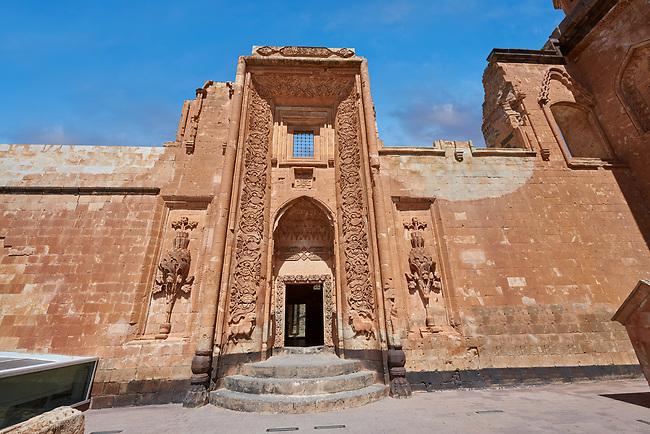 Main Hareem entrance of the 18th Century Ottoman architecture of the Ishak Pasha Palace (Turkish: İshak Paşa Sarayı) ,  Agrı province of eastern Turkey.