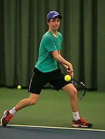 Rotterdam, The Netherlands, 15.03.2014. NOJK 14 and 18 years ,National Indoor Juniors Championships of 2014, Teis Visser (NED)<br /> Photo:Tennisimages/Henk Koster