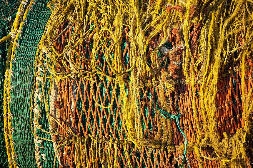 Tattered fishing nets.