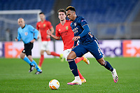 18th February 2021, Rome, Italy;   Gabriel Magalhaes of Arsenal FC during the UEFA Europa League round of 32 Leg 1 match between SL Benfica and Arsenal at Stadio Olimpico, Rome, Italy on 18 February 2021.