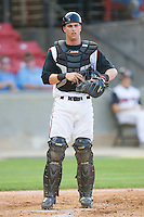 Catcher Chris McMurray #41 of the Carolina Mudcats at Five County Stadium May 15, 2010, in Zebulon, North Carolina.  Photo by Brian Westerholt /  Seam Images